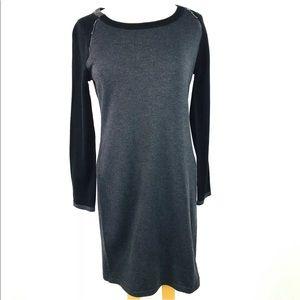Ivanka Trump Pullover Sweater DressGray Zippers M
